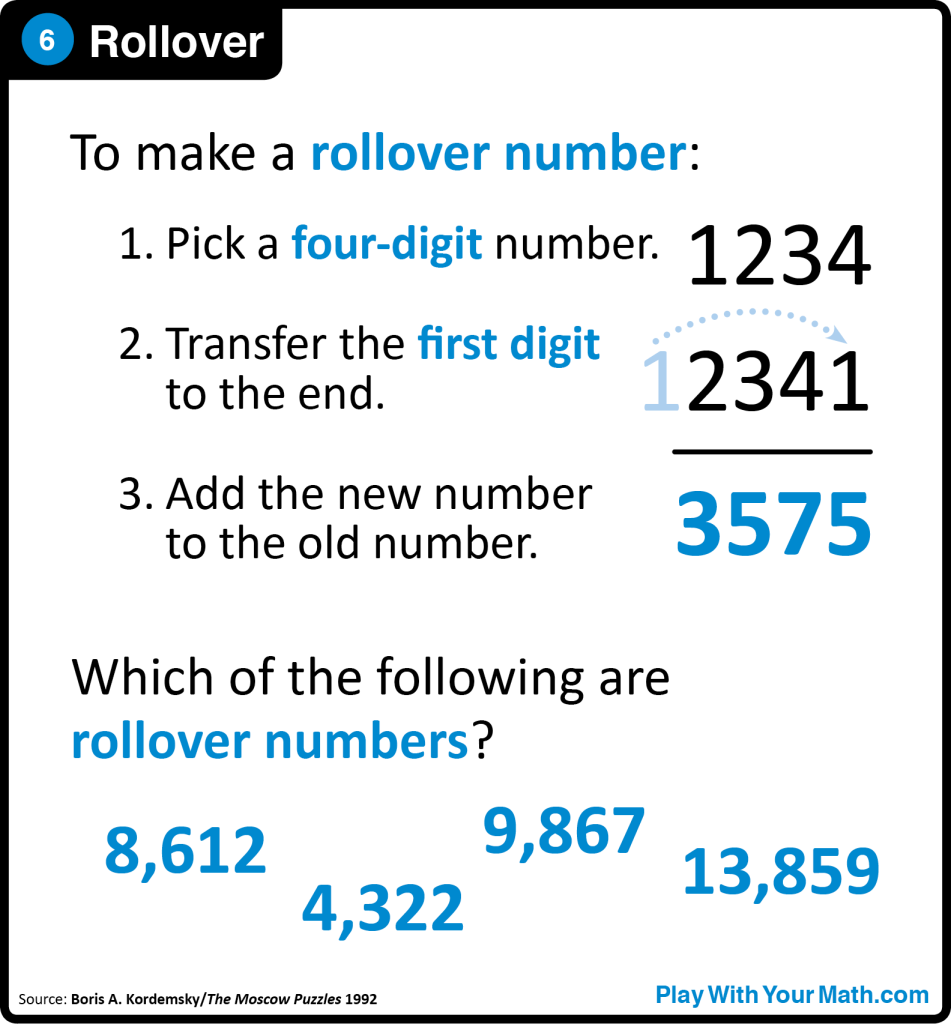 6. Rollover – Play With Your Math