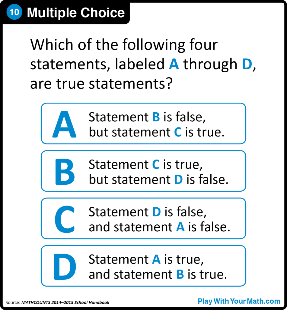 10. Multiple Choice – Play With Your Math